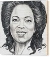 Oprah Winfrey  Wood Print