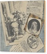 Optical Illusion With Prints And Pamphlets, L. Groskopf, C. 1746 Wood Print