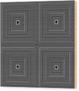 Optical Illutions Wood Print