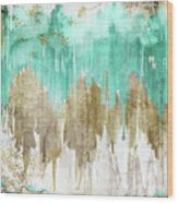 Opulence Turquoise Wood Print