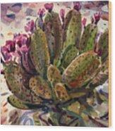 Opuntia Cactus Wood Print