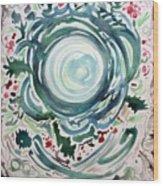 Oracular Yule Wreath Wood Print
