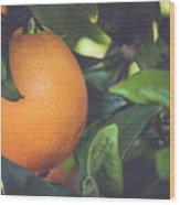 Orange #3 Wood Print