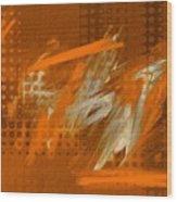 Orange Abstract Art - Orange Filter Wood Print
