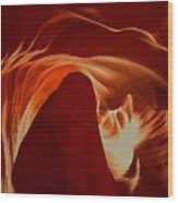 Orange Abstract At Upper Antelope Wood Print