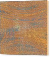 Orange And Gray Abstract Wood Print