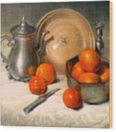 Orange And Gray Wood Print
