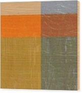 Orange And Grey Wood Print