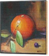 Orange And Purple Wood Print by Pepe Romero