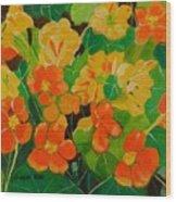 Orange And Yellow Days Wood Print
