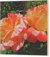 Orange And Yellow Wood Print