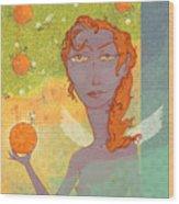 Orange Angel 1 Wood Print by Dennis Wunsch