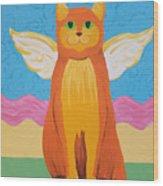 Orange Angel Cat Wood Print