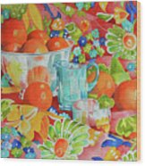 Orange Appeal Wood Print
