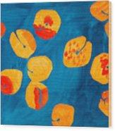 Orange Apricots Wood Print