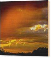 Orange Arizona Wood Print