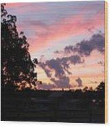 Orange-aubergine Sky Wood Print