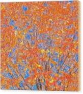 Orange Autumn Impression Wood Print