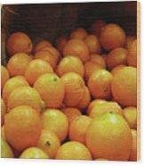 Orange Basket Wood Print by Methune Hively