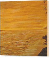 Orange Beach Wood Print