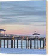 Orange Beach Pier Wood Print by JC Findley
