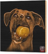 Orange Boxer Mix Dog Art - 8173 - Bb Wood Print