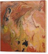 Orange-brown Series No. 1 Wood Print