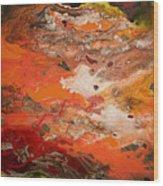 Orange-brown Series No. 3 Wood Print