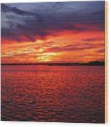 Orange Burst At Daybreak Wood Print