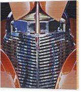Orange Chevrolet Grille Wood Print