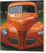 Orange Classic  Wood Print