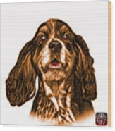 Orange Cocker Spaniel Pop Art - 8249 - Wb Wood Print