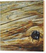 Orange Colored Old Wooden Board Wood Print