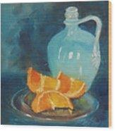 Orange Complement Wood Print