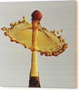 Orange Crown 9 Wood Print
