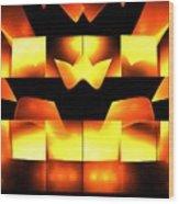 Orange Crown Wood Print