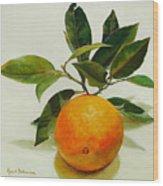Orange cueillie Wood Print