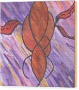 Orange Decor Wood Print