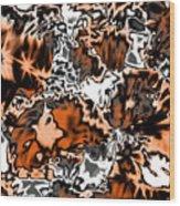 Orange Explosion Wood Print