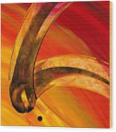 Orange Expressions Wood Print by Sharon Cummings