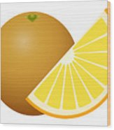 Orange Fruit Wood Print