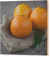 Orange Fruit Wood Print by Sabino Parente