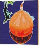 Orange Globe Wood Print