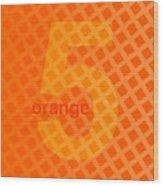 Orange God Astante Wood Print