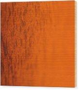 Orange Gradient Wood Print