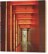 Orange Hallway Wood Print