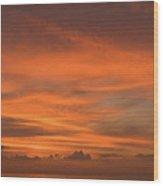 Orange Insanity Sunset Venice Florida Wood Print