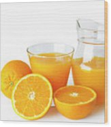 Orange Juice Wood Print