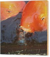 Orange Kiss Wood Print