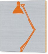 Orange Lamp Wood Print by Naxart Studio